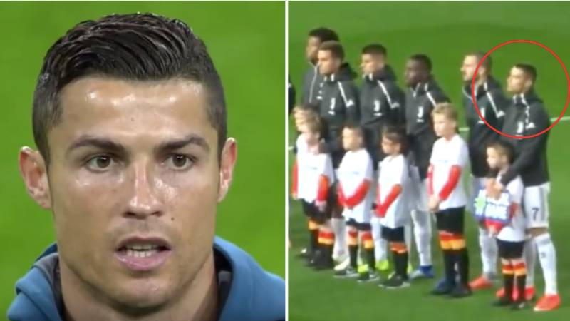 Cristiano Ronaldo Sings Along To The Champions League Music Like It Was His National Anthem