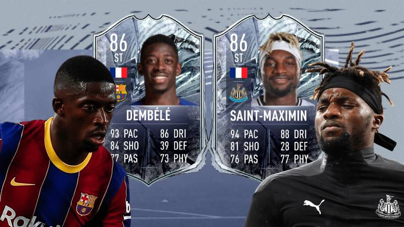 Ousmane Dembele & Allan Saint-Maximin's Leaked FIFA 21 Cards Are Going To Break So Many Controllers