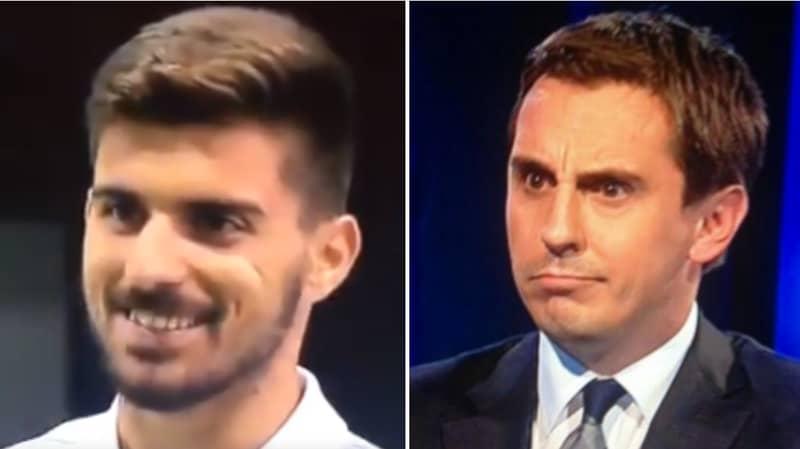 Manchester City Fans Love Ruben Neves' Response To Gary Neville On Premier League Launch Show
