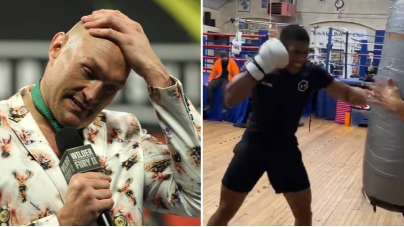 Boxing Fans Says Tyson Fury Is In Serious Trouble After Anthony Joshua Shows Off Brutal Punching Power