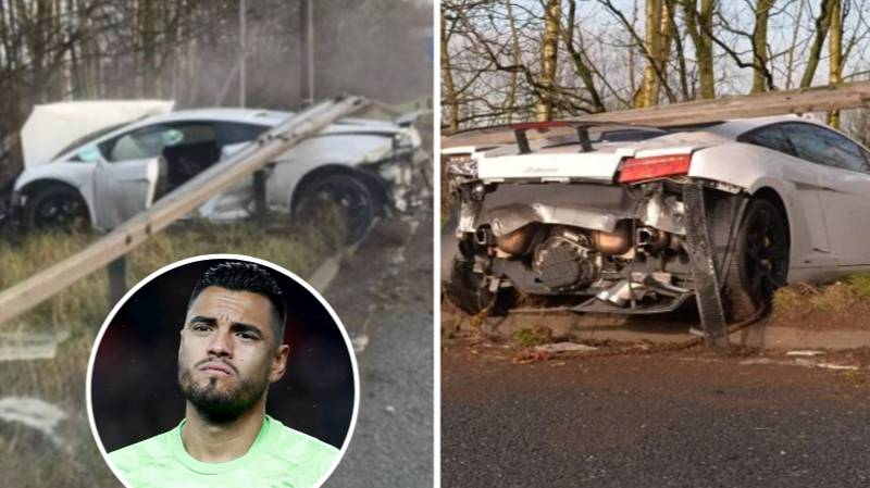 Sergio Romero Crashes £170,000 Lamborghini On The Way To Manchester United Training
