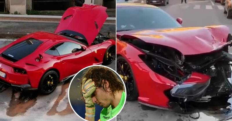 Italy Goalkeeper Has £300,000 Ferrari Smashed To Pieces By Car Wash Worker