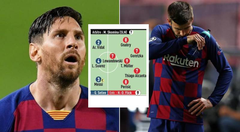 L'Equipe Release Embarrassing Ratings For Barcelona After Bayern Munich Loss
