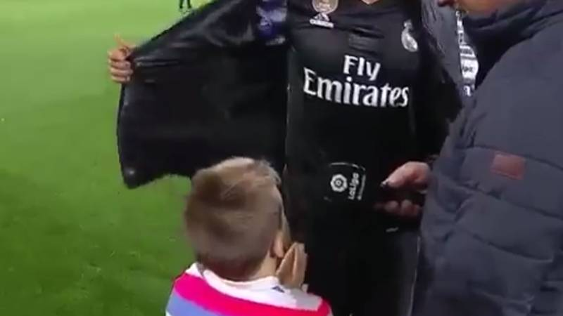 WATCH: Little Lad Gatecrashes Real Madrid Star's Interview, Gets His Jacket