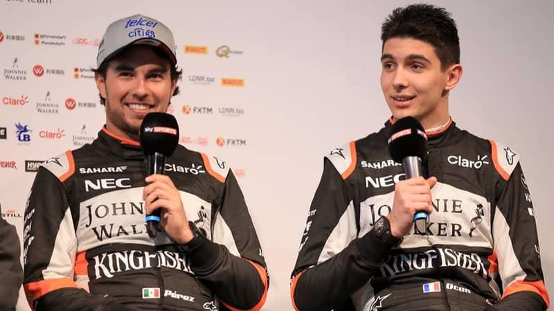 Force India Set To Keep Sergio Perez And Esteban Ocon