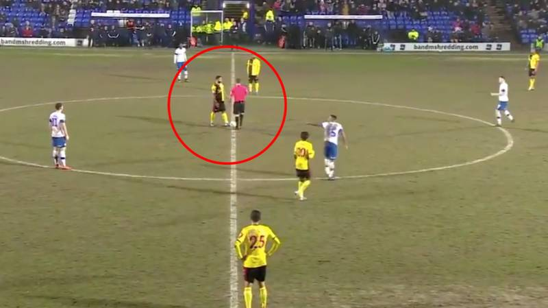 Watford's Andre Gray Gives Away Free-Kick From Kick-Off In A Truly Bizarre Moment