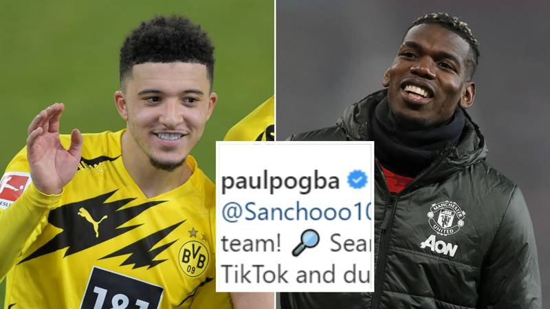 Paul Pogba Teases Manchester United Fans With Cryptic Jadon Sancho Post