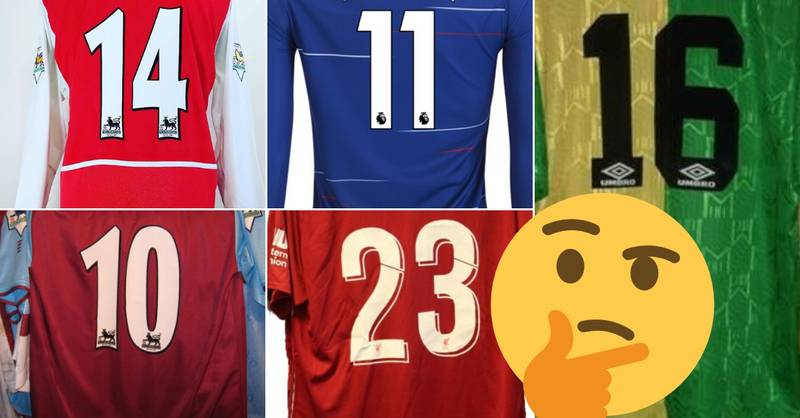 QUIZ: Can You Name 20 Great Premier League Players By Their Shirt Number?