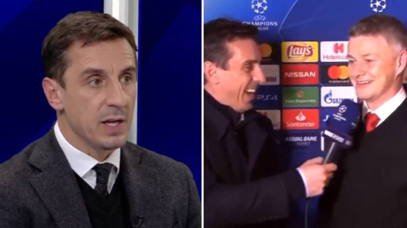 Gary Neville's Post PSG Interview With Ole Gunnar Solskjaer Hasn't Aged Well