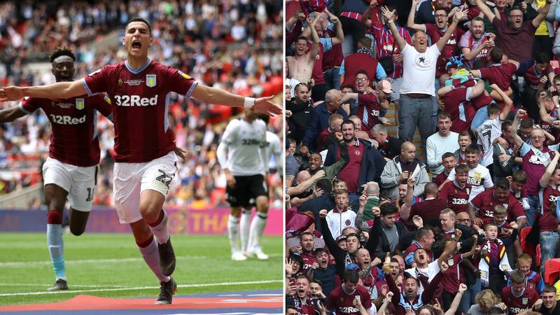 Aston Villa Beat Derby County In Championship Play-Off Final To Reach Premier League