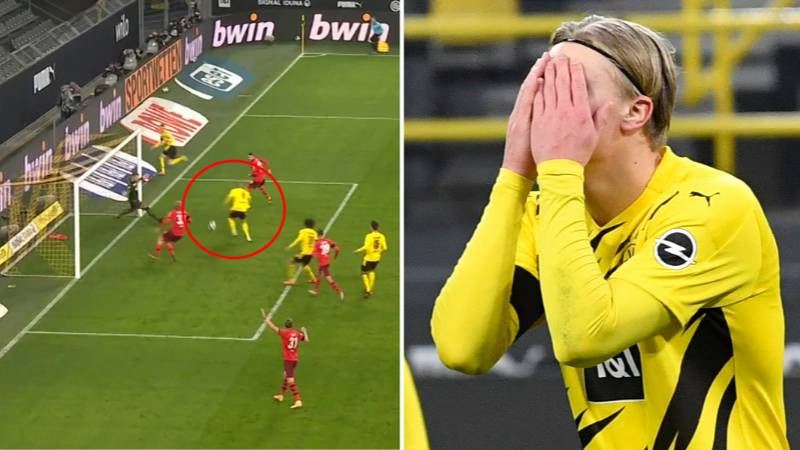 Erling Haaland Proves He's Human With Glaring Miss In Borussia Dortmund Defeat