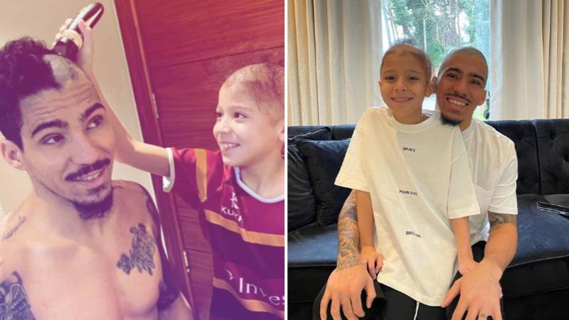 Everton Midfielder Allan Let His 9-Year-Old Alopecia-Suffering Son Shave His Hair Off So They Look The Same
