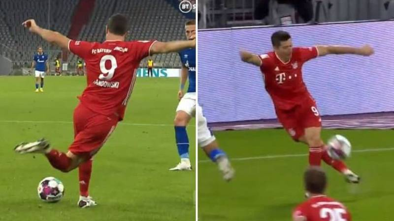 Robert Lewandowski Provides Rabona Assists In 8-0 Bayern Munich Win