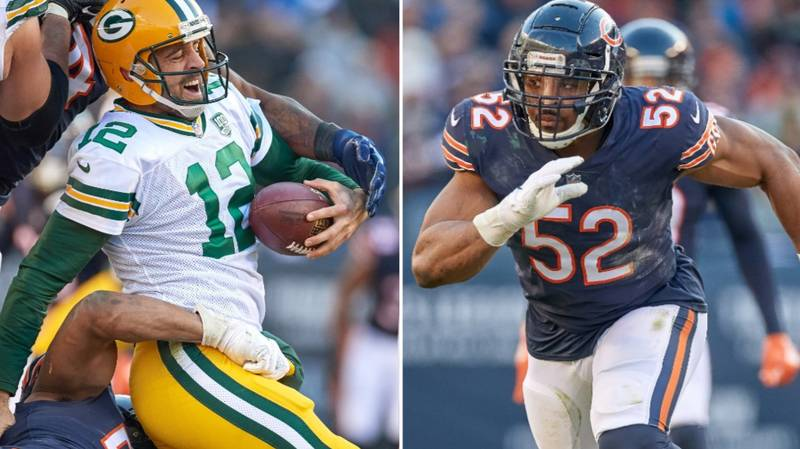Khalil Mack Says 'Sacking Aaron Rodgers' Is Best Part Of Bears-Packers Rivalry