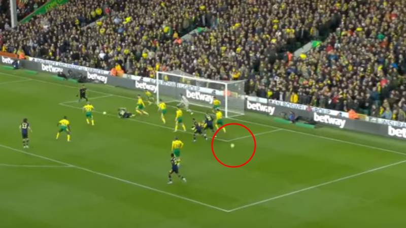 Arsenal's Second Goal Against Norwich Was Scored With Two Balls On The Pitch