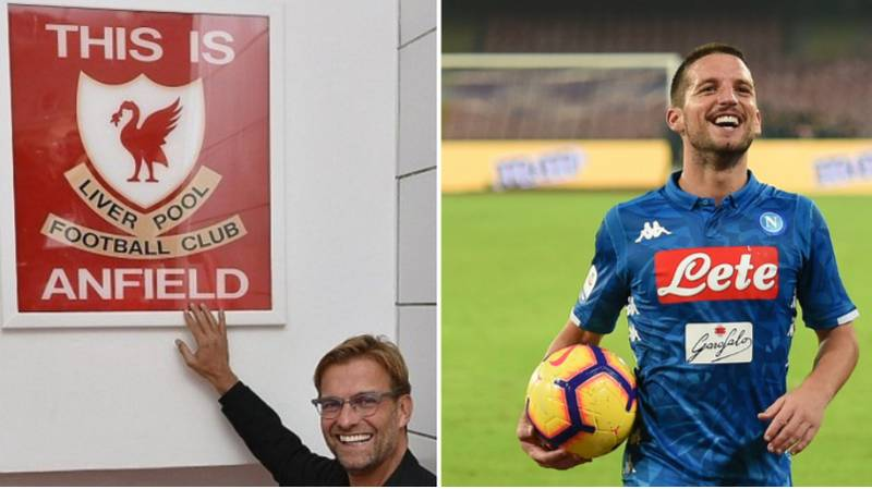 Napoli's Dries Mertens Mocks Famed 'This Is Anfield Sign' Ahead Of Crucial Champions League Game