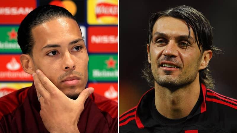 Fan Destroys Tweet That Suggests Virgil Van Dijk Is As Good As Paolo Maldini