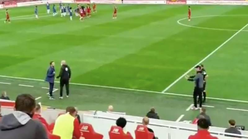 What Frank Lampard Said To Jurgen Klopp In Touchline Altercation