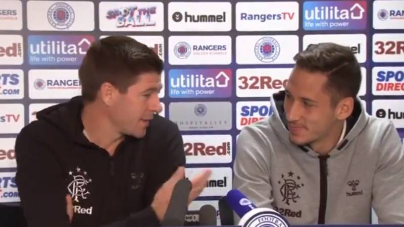 Steven Gerrard Has To Translate Scottish Accent For Nikola Katic