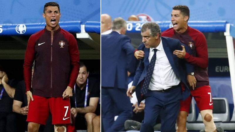 Remembering The Moment Cristiano Ronaldo Became Portugal Coach During Euro 2016 Final