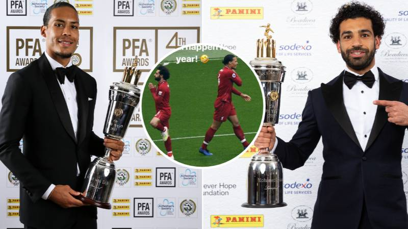 Mohamed Salah Hilariously Reacts To Virgil van Dijk Winning PFA Player Of The Year