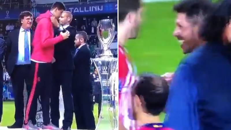 Diego Simeone Appears To Laugh His Ass Off When Thibaut Courtois Collects His Losers Medal