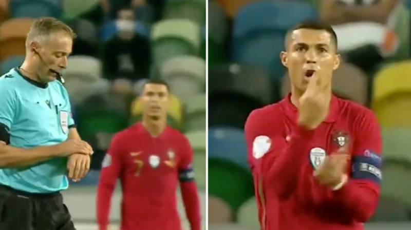Cristiano Ronaldo's Reaction To Referee Blowing A Few Seconds Too Early For Half-Time Sums Him Up Perfectly