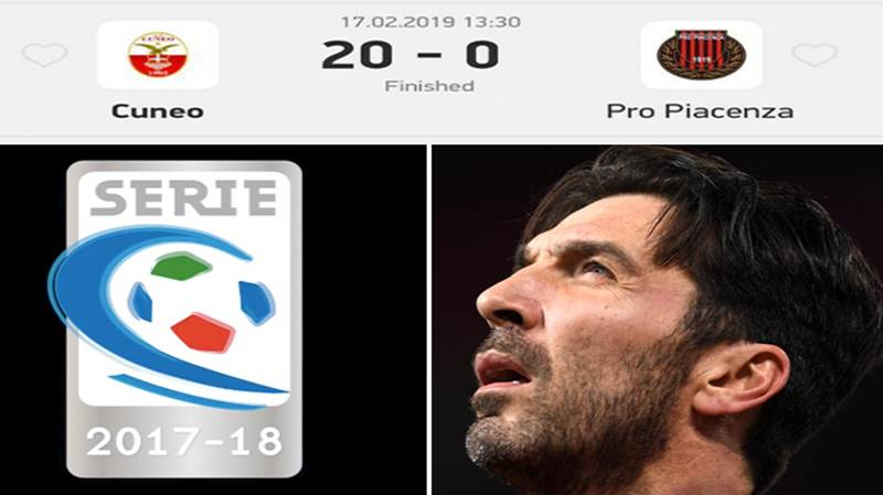 Serie C Side Lose 20-0 After Only Fielding Eight Players, All Teenagers