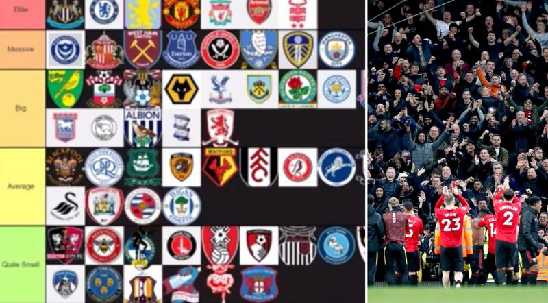 Fan Controversially Ranks All 92 English Teams From 'Elite' To 'Tinpot'