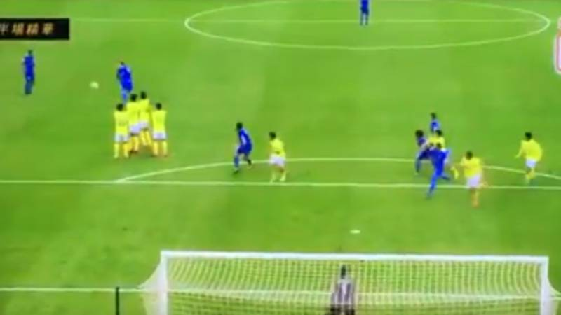 Watch: Diego Forlan Scores A Peach Of A Free-Kick