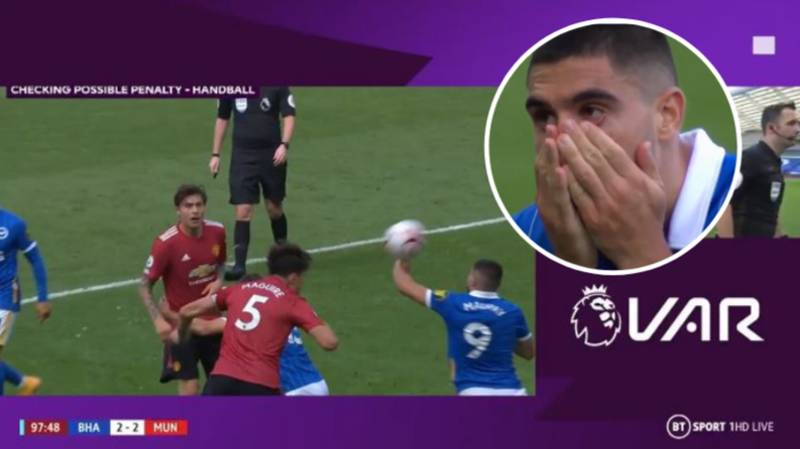 Incredible Late Drama As Manchester United Beat Brighton 3-2