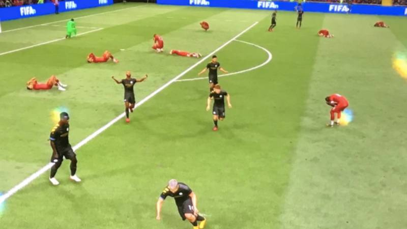 Players Drop To The Floor In Despair After Conceding Last Minute Goals On FIFA 21