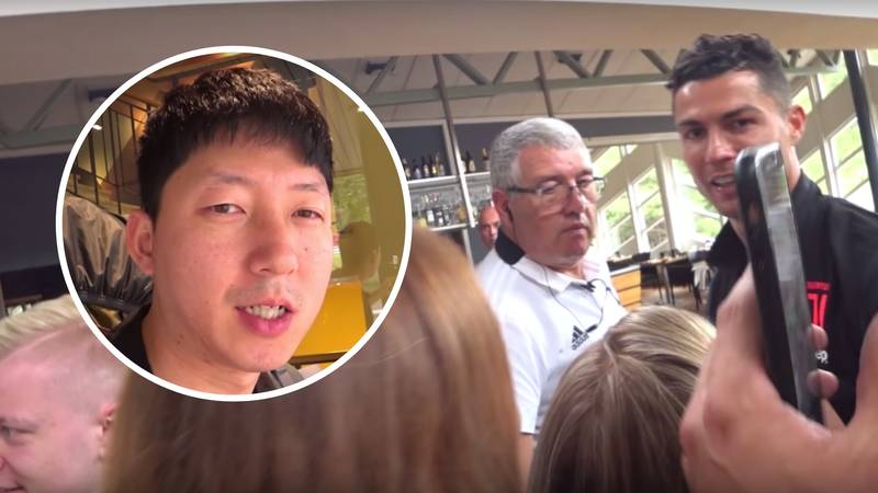Cristiano Ronaldo Confronted By Angry South Korean Fan In Sweden After Juventus No-Show