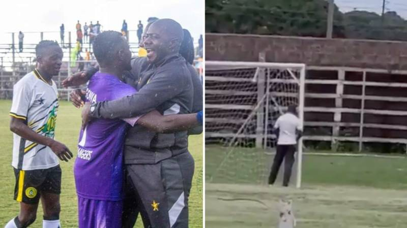 Zambian Super League Coach Suspended For Urinating On Goalpost