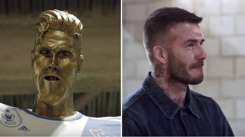 David Beckham Is The Victim Of Hilarious Fake Statue Prank