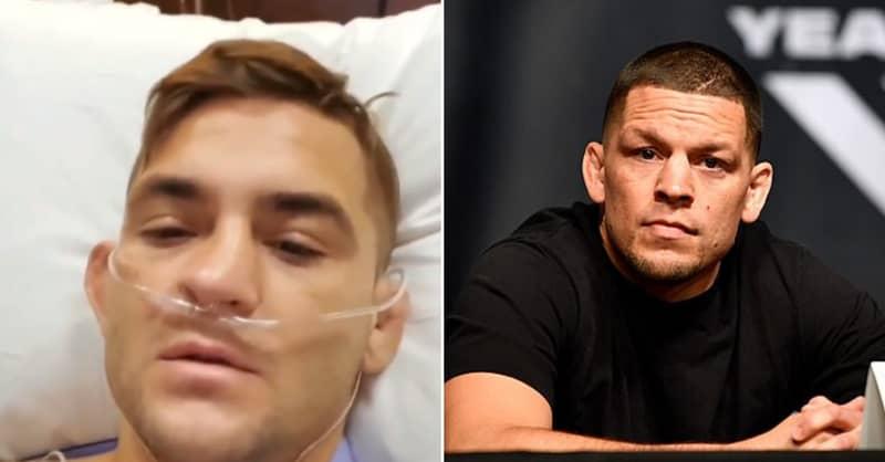 Dustin Poirier Sends Nate Diaz A Brutal Message From Hospital Bed After 'Doping' Scandal