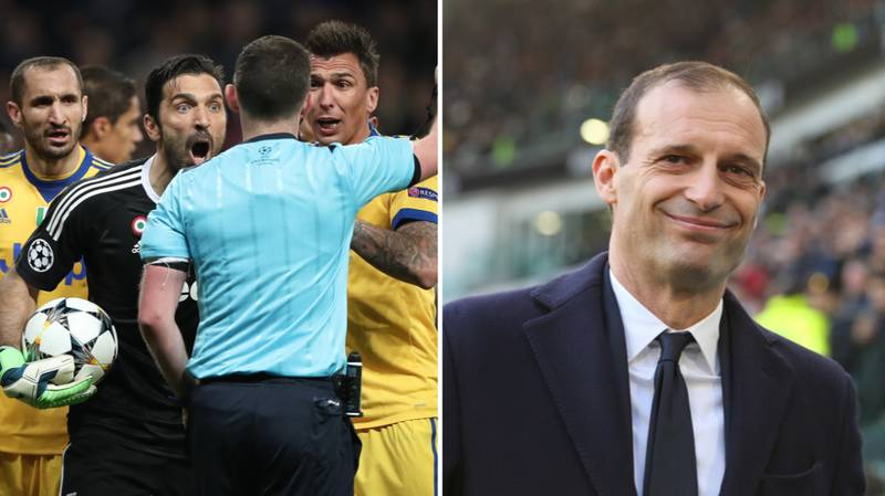 Massimo Allegri Defends Gianluigi Buffon For His Sending Off Against Real