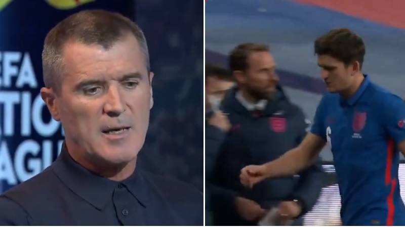 Roy Keane Slams Gareth Southgate For Not Consoling Harry Maguire After His Red Card For England