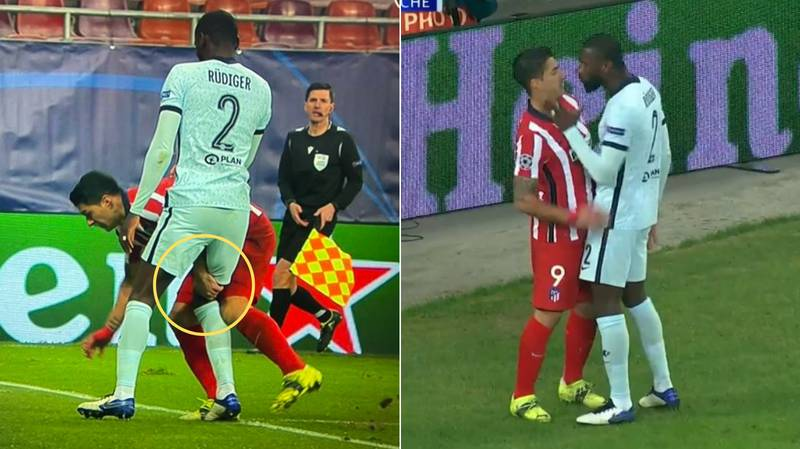 "Luis Suarez Branded ""Disgusting"" And ""Vile"" For Pinching Antonio Rudiger"