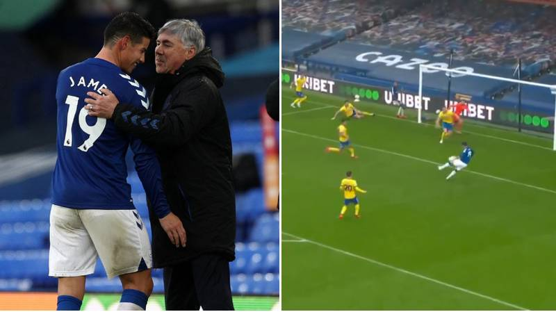 James Rodriguez Scores Brace And Grabs Assist In Brilliant Performance For Everton Against Brighton