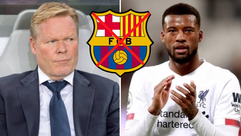 Barcelona's Plans To Sign Georginio Wijnaldum From Liverpool Have Been Hit With A Ban