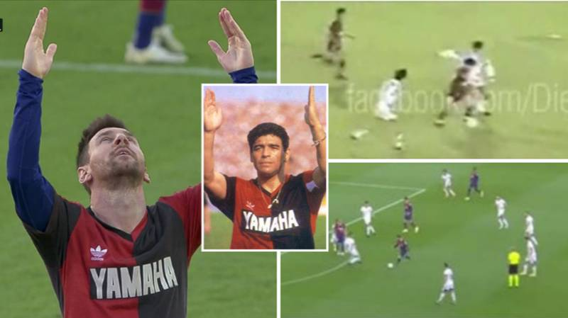 Lionel Messi's Glorious Goal For Barcelona Was Similar To One Diego Maradona Scored For Newell's Old Boys
