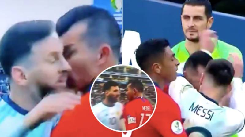 Lionel Messi Given A Straight Red Card For 'Headbutt' Incident Against Chile