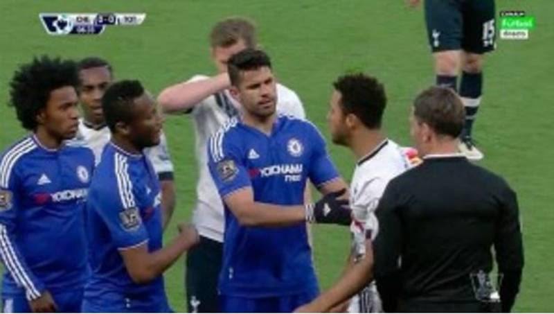 Mousa Dembele Gouged Diego Costa's Eye During Spurs' Match With Chelsea