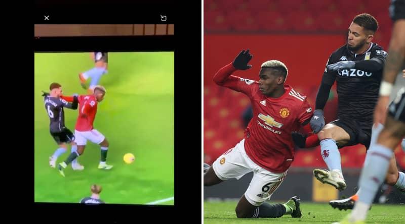 Douglas Luiz Posts Angry Social Media Response To Paul Pogba Penalty Decision