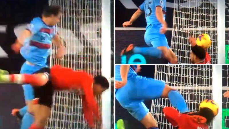 Craig Dawson Boots Che Adams Directly In The Face During Southampton Vs West Ham