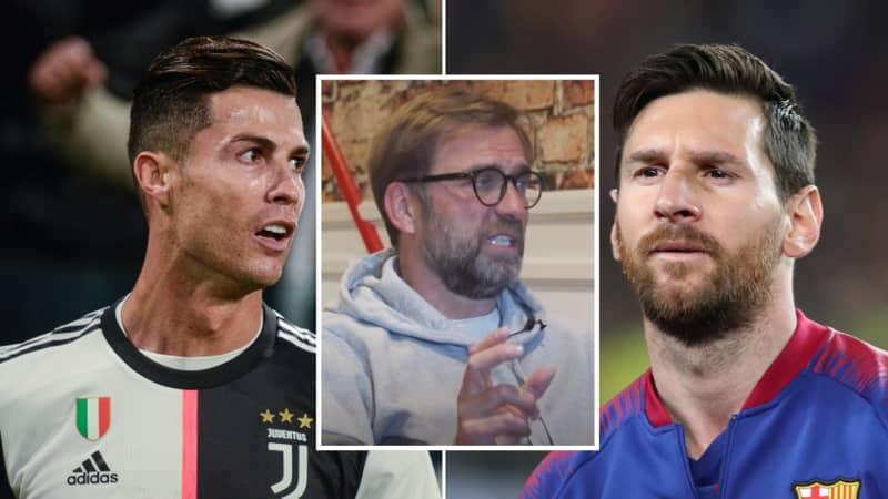 Jurgen Klopp Gives Classy Response To The Lionel Messi And Cristiano Ronaldo Debate