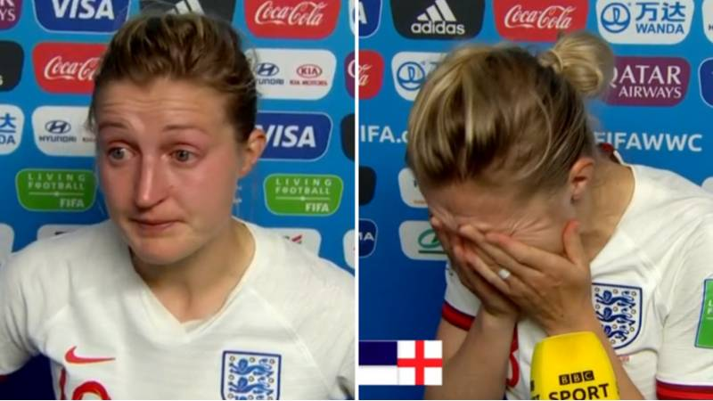 England's Ellen White In Tears As She Gives Emotional Interview After USA Loss