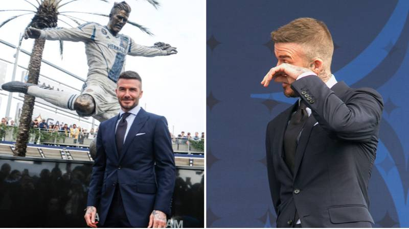 David Beckham Is Honoured With LA Galaxy Statue