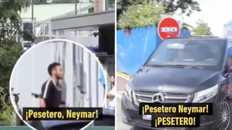 "PSG Employee Shouts ""Money Grabber"" Towards Neymar At Club's Training Ground"